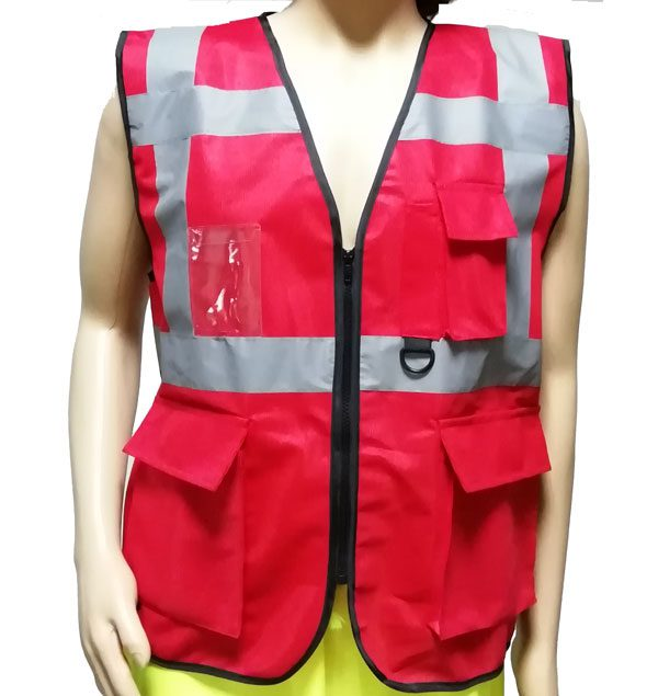 Hi-Viz Safety Vest 4 Pockets Executive