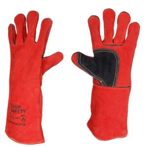 Leather Welding Glove with Half Patch