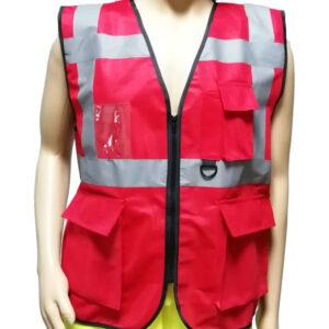 Hi-Viz Safety Vest 4 Pockets Executive