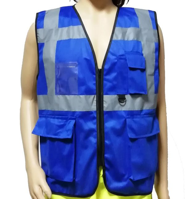 Safety Executive Vest in Blue Color