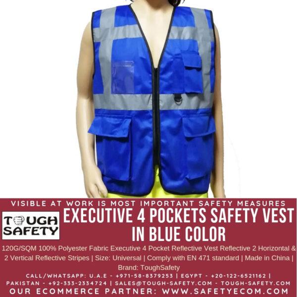 ToughSafety Executive Safety Vest Blue
