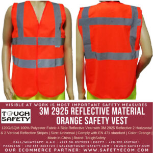 3M NORMAL ORANGE SAFETY VEST